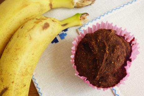 Magdalenas de coco, plátano y canela