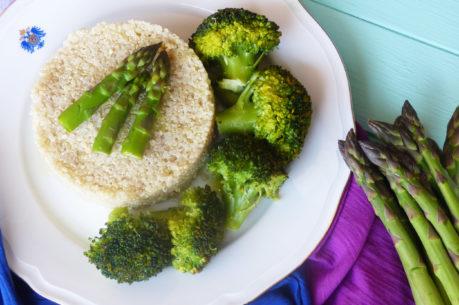 Quinoa con verduras primaverales