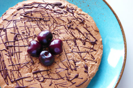 Cheesecake vegano de chocolate