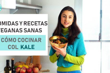 Qué como en un día (vegano) I Cómo cocinar col kale I Receta de ensalada vegana de lentejas otoñal